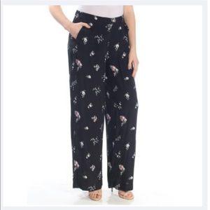 Vince Camuto wide leg floral pants